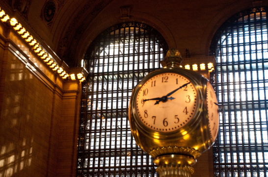 Central Concourse clock, Grand Central Station, New York, 7 Nov. 2009