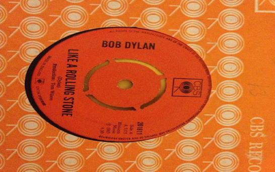 "Like a rolling stone #bobdylan #1965 #single #vinyl #7"" #cbs #record #rollingstone"
