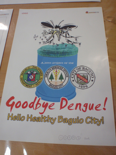 Dengue community education poster – Goodbye dengue